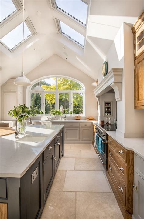 stunning kitchen extension pitched roof vaulted
