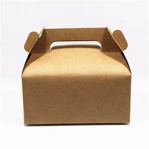 Kraft Paper Box With Handle Cake Gift Packing Boxes For