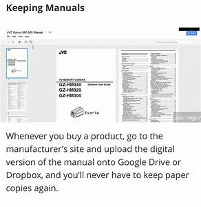 How To Keep A Manual For Everything You Ever Buy