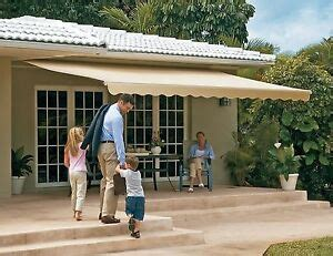 sunsetter motorized retractable awning  ft outdoor deck patio awnings ebay