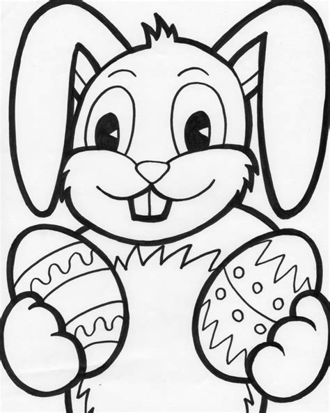 easter bunny coloring pages  kids family holidaynet