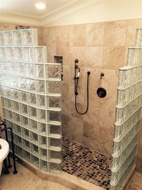 customers top  fears   glass block walk  shower