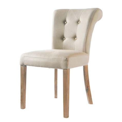 cottage chic furniture chaise capitonnée en écru boudoir maisons du monde
