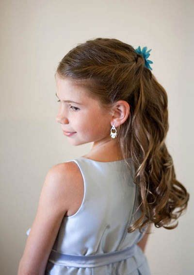 Pretty Kid Hairstyles by Top 13 Trendy Hairstyles For Wedding Flower And