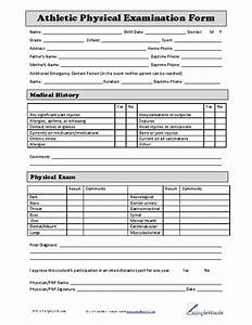 standard physical examination form