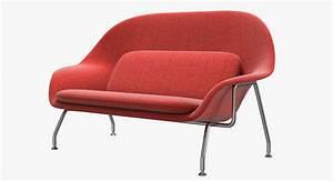 3d Knoll Saarinen Womb Sofa Model