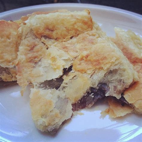 nutella and puff pastry dessert