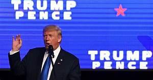 Meeting de Donald Trump au James L. Knight Center à Miami ...