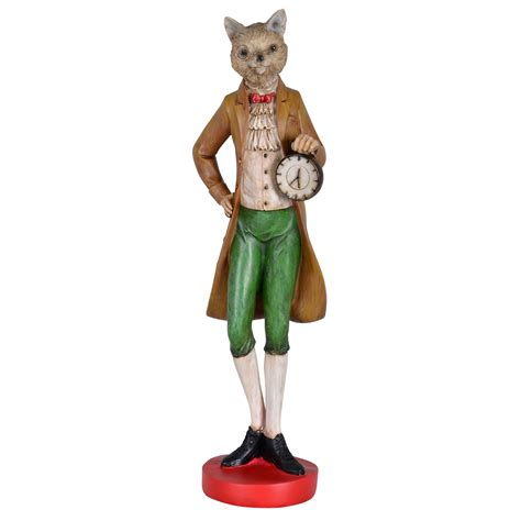 mr animal novelty ornaments victorian statue figure 43 5cm