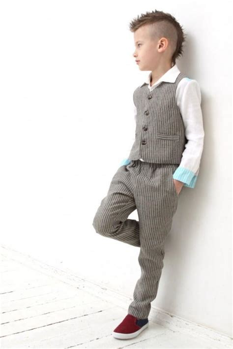 Ring Bearer Outfit Wedding Party Outfit Toddler Boy Vest And Pants Boys Linen Suit Family Photo ...