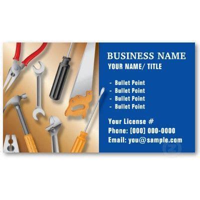 construction  handy man business card zazzlecom