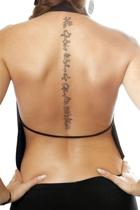 cool spine tattoos  men  women