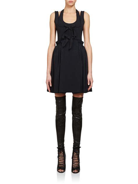 lyst givenchy silk jacquard corset dress  black