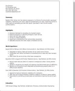 sle resume for utility worker professional utility worker templates to showcase your talent myperfectresume