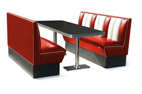 kitchen booth furniture retro diner booth seating six seater set