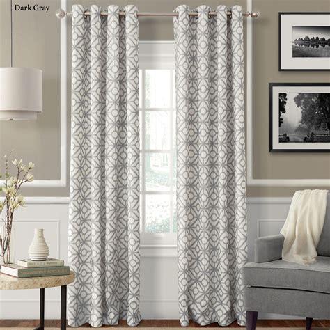 crackle geometric grommet curtain panels