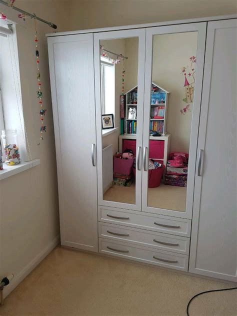 Large White Wardrobe by Large Wooden White Wardrobe In Louth Lincolnshire Gumtree