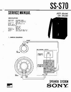 Sony Ss-s70 Service Manual