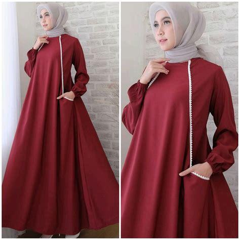 Itu yg seringkali di pertanyakan. Model Baju Gamis Warna Merah Marun   Ragam Muslim