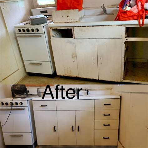 couldnt remove   metal cabinets  destroying
