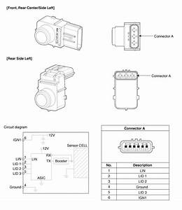 Kia Sedona  Parking Assist Sensor Schematic Diagrams - Front    Rear Parking Assist System