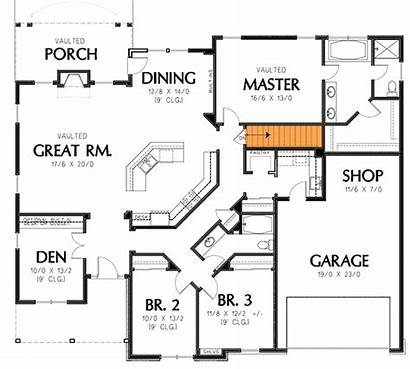 Plan Plans Floor Single Story Basement Level