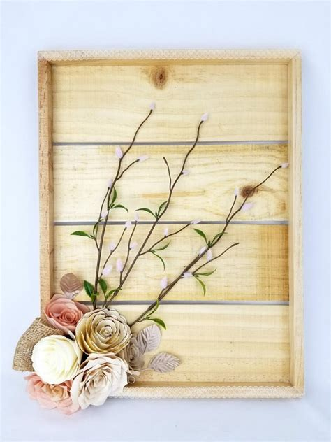 Choose white shelving that reaches the ceiling for plenty of storage, or install small floating cabinets for displaying just some things. Rustic Floral Decor - Cottage Chic Wall Decor - 3D Flower Wall Art - Paper Floral Wall Decor ...