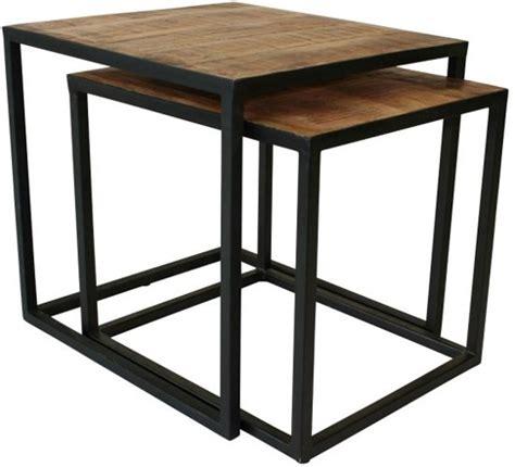 2 vierkante salontafels bol vintagecarpet nl vlojo vierkant set van twee