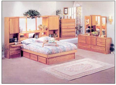 Oak King Bedroom Set by Waterbed Coronado 72 Quot Wall Unit Or With Waterbed Ek Cal