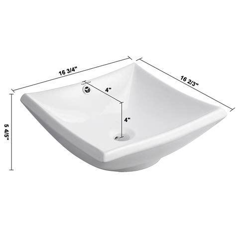 kitchen sink overflow aquaterior 174 bathroom porcelain ceramic vessel sink vanity 2806