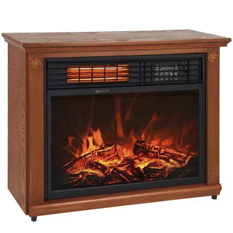 large room infrared quartz electric fireplace heater honey