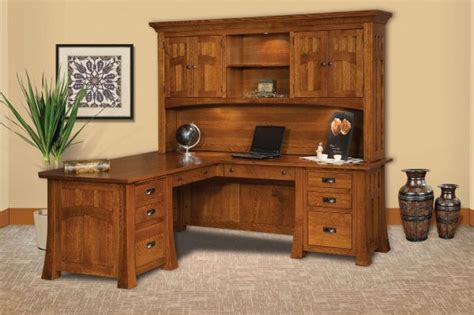mission canyon executive  desk  hutch countryside amish furniture