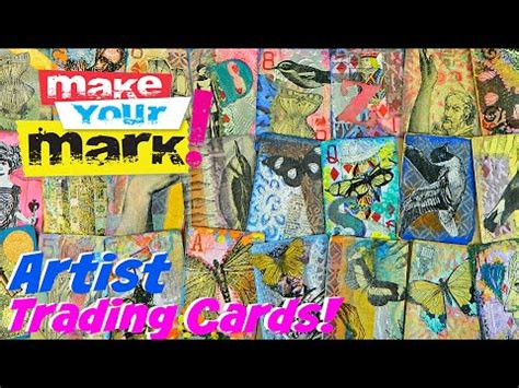 artist trading cards diy swap contest youtube