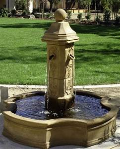 Running outdoor garden fountain garden fountains pinterest for Outdoor patio fountains