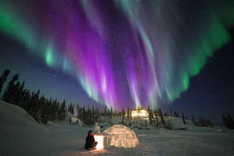 a northern light 6 ways to see northern lights in the canadian arctic