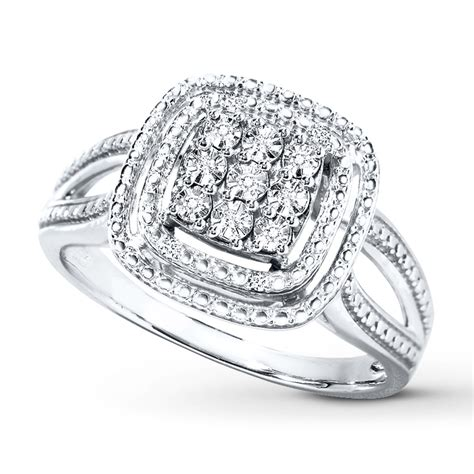 Kay - Diamond Ring Sterling Silver