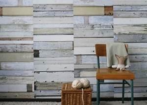 Planche De Bois Blanc : papier peint design vintage ou industriel tr s tendance chez ksl living ~ Voncanada.com Idées de Décoration