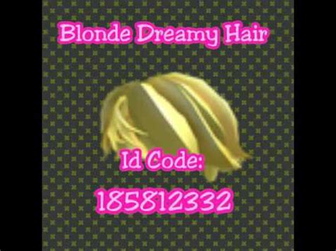 Roblox gear codes consist of various items like building, explosive, melee, musical, navigation, power up, ranged, social and transport codes, and thousands of other things. Roblox Hair Id Codes - YouTube
