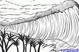 Tsunami Draw Tsunamis Colouring Sheet Step Volcano Activities sketch template