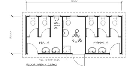 public toilet design plans in populated area classrooms