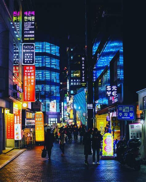 walking home   digital night myeong dong
