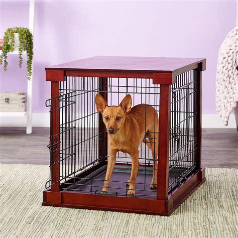 merry products wooden decorative dog cat crate mahogany