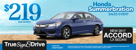 Honda Accord Lease by New Honda Lease Specials Mn Civic Accord Cr V Fit