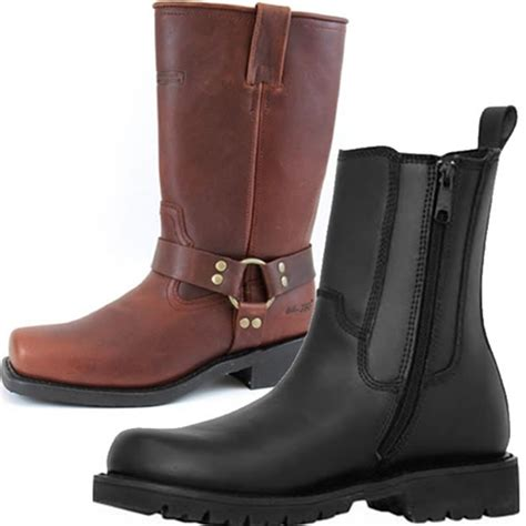 motorcycle boots shoes men 39 s leather motorcycle boots