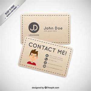 Business card with a cartoon avatar vector free download for Business card cartoon
