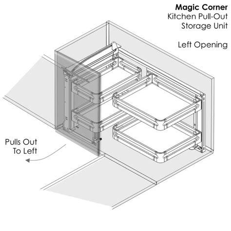 magic corner kitchen storage elite magic corner pull out kitchen storage unit for 7313