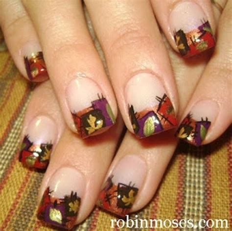 autumn leaves nail art  examples
