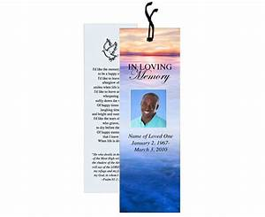 funeral bookmark template dusk lovely landscape add your With free memorial bookmark template download