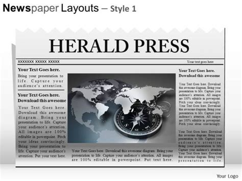 editable newspaper editable newspaper template for