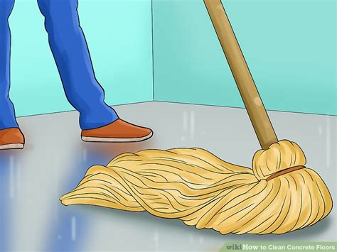 how to clean the kitchen floor how to clean concrete floors with pictures wikihow 8585